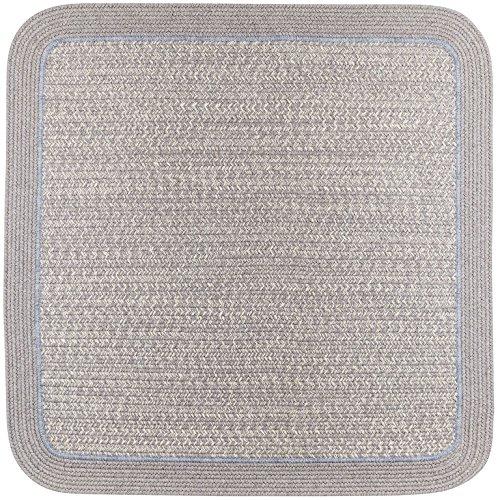 RRI Home Decor HA48R048X048S Harmony Square Rug, 4' x 4' , Silver (Rhody Mist)