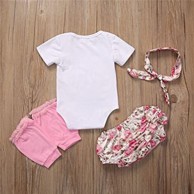 Headband,Leg Warmer Set Floral Shorts Aliven I Found My Prince His Name is Daddy Newborn Baby Girl Cotton Bodysuit