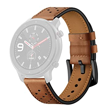 Amazon.com: jinjijn Leather Replacement Watch Band Wristband ...