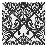 Sweet Jojo Designs Black and White Isabella Fabric Memory/Memo Photo Bulletin Board