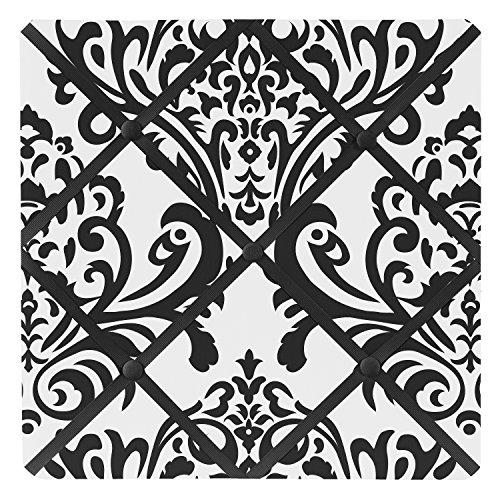 Sweet Jojo Designs Black and White Isabella Fabric Memory/Memo Photo Bulletin Board (Isabella Fabric)