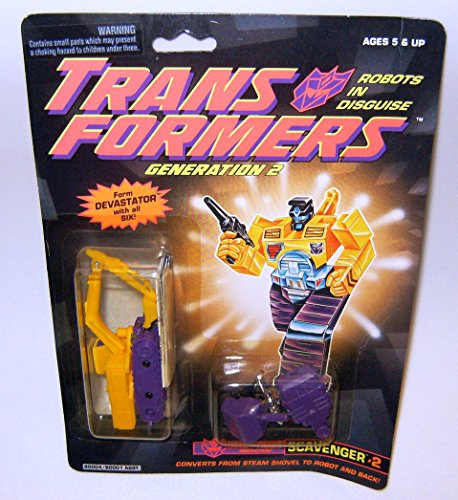 Transformers Generation 2 Scavenger Yellow And Purple Action Figure