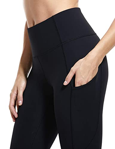 Crz Yoga Women's Naked Feeling High Waist Tummy Control Stretchy Sport Running Leggings With Out Pocket 25 Inch by Crz+Yoga