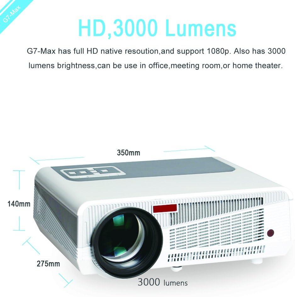 iCodis G7 MAX Proyector, 3000 Lumens LED, 30000 Horas de Vida útil ...