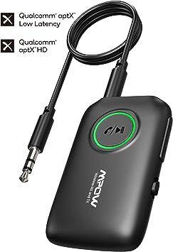 Mpow BH390 Transmetteur et Récepteur Bluetooth 5.0 pour Source Audio Non Bluetooth, iPod, Émetteur Bluetooth avec aptX à Faible Latence pour TV,