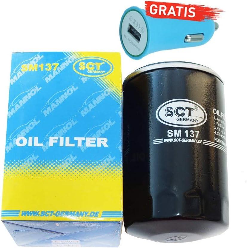 Original SCT Germany /Ölfilter SM137 Autoladeger/ät geschenkt