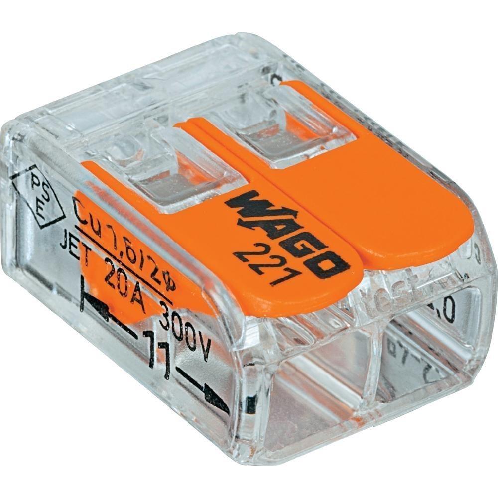 Wago 221-412 LEVER-NUTS 2 Conductor Compact Connectors 200 PK