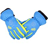 TRIWONDER Ski Snowboard Gloves for Kids - Waterproof Winter Warm Gloves Thermal Fleece Snow Gloves