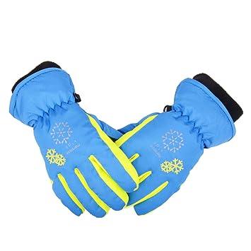 a91e82f8997c6 TRIWONDER Thermal Fleece Skihandschuhe Snowboard Handschuhe Wasserdichte  warme Winterhandschuhe für Kinder (blau