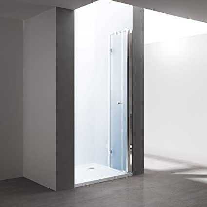 Durovin Bathrooms Frameless Bifold Shower Door 6mm Tempered Safety Glass 800 x 1950 mm WxH Maximise Entry Space