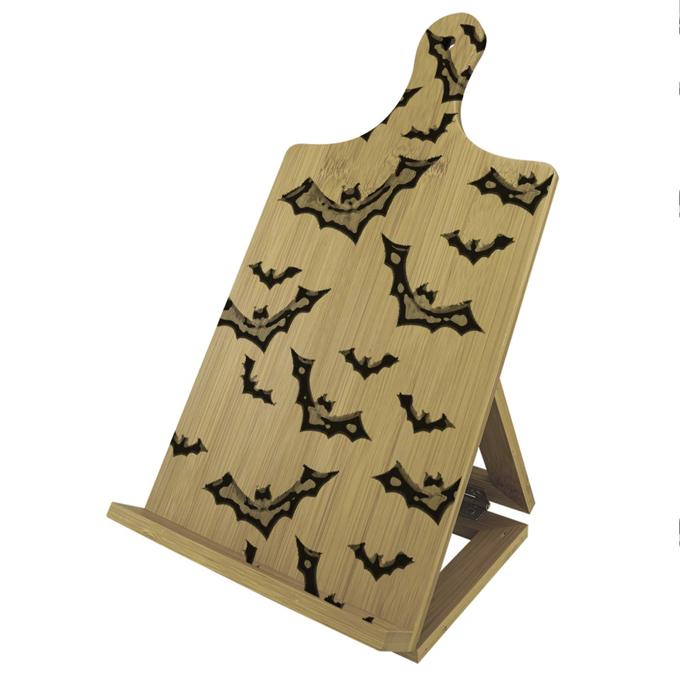 Halloween Vampire Bats - Recipe Cook Book Tablet iPad Wood Bamboo Easel Stand by Sunshine Cases