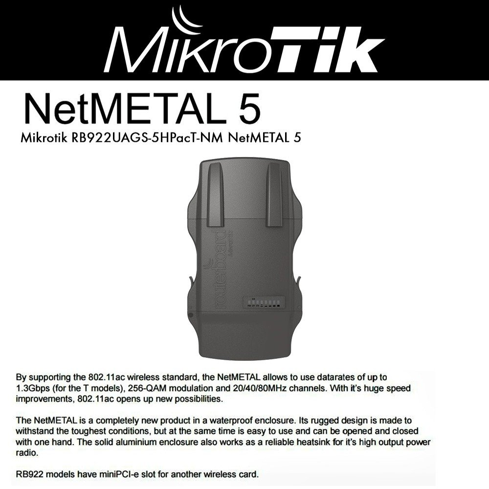 Mikrotik Netmetal 5 Rb922uags 5hpact Nm Routerboard Rb Disc Lite Computers Accessories