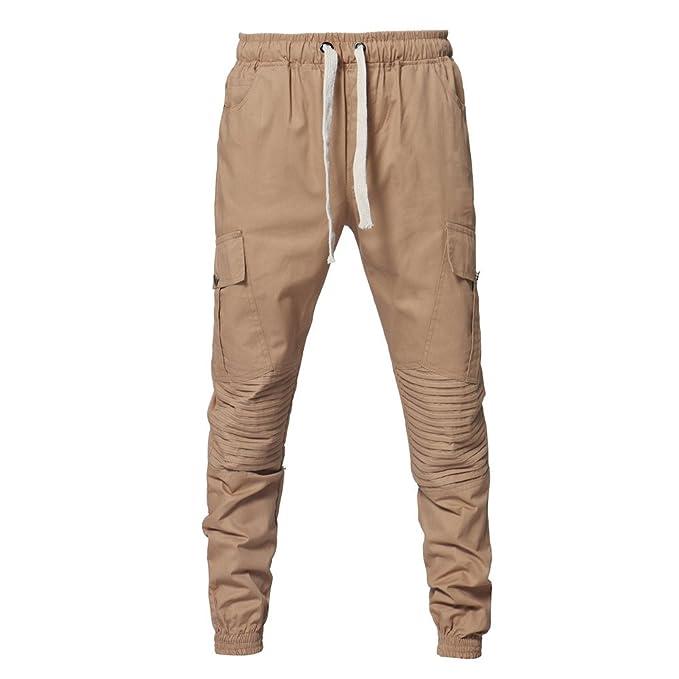 YanHoo Cinturones de sujeción Conjunta de Deporte de Moda para Hombre  Pantalones de chándal Sueltos Ocasionales con cordón Pantalones de Jogging  Camuflaje ... 5c7d008afda0