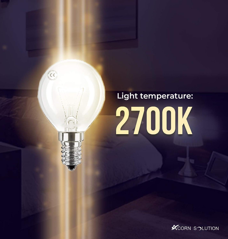 AcornSolution Mini Globes Klare runde Gl/ühbirne E14 kleine Basis,240 V Energieeffizienz: E-10Pack 40 W