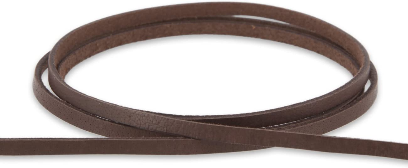 Lederband 3x3 mm aus Rindsleder L/änge braun Farbe 1m AURORIS
