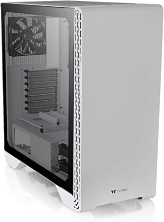 Thermaltake H200 Tempered Glass Snow Edition RGB Light Strip ATX Mid Tower Case with One 120mm Rear Fan Pre-Installed CA-1M3-00M6WN-00