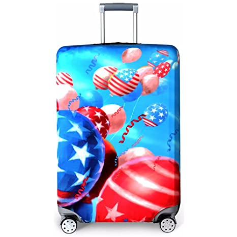 437b6bc09587 Washable Travel Luggage Cover Funny Cartoon Suitcase Protector Fits 18-32  Inch (S(18