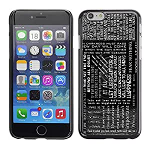 iBinBang / Funda Carcasa Cover Skin Case - Texto Negro Blanco Lectura Libros Mensaje - Apple iPhone 6