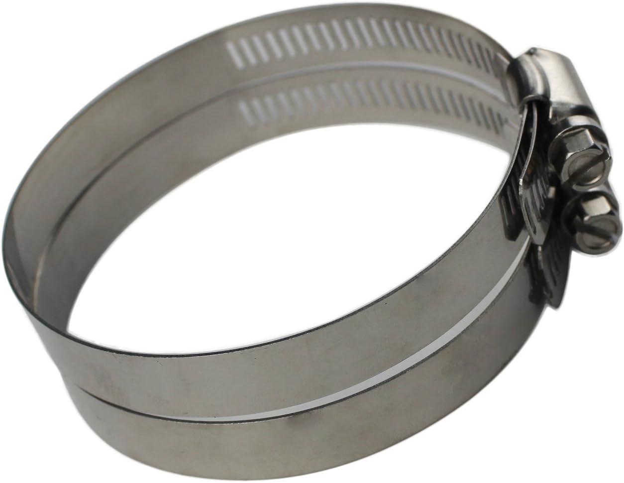 10 piezas 40-64mm acero inoxidable aro ajustable tornillo para abrazadera de manguera