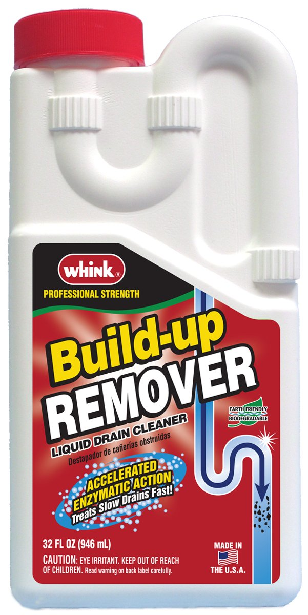 Whink Liquid Drain Build-Up Remover 32 Ounce