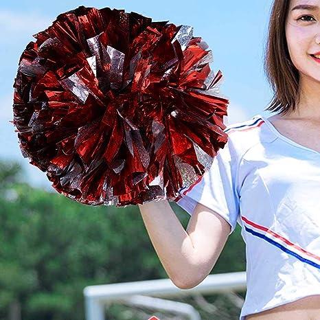 2 Farben-Schein der Bunte Cheerleader-Pompons f/ür Tanzparty-Schulsport-Wettbewerb scheint VGEBY1 Cheerleading Pom Pom