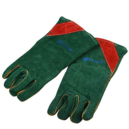 LYLLYL Soldadura eléctrica guantes de cuero Soldador engrosado soldadura soldadura de gas guantes de soldadura Aislamiento