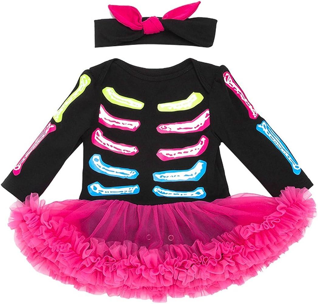Anguang Bebé Chicas Tutú Mameluco Conjuntos Halloween Disfraz con ...