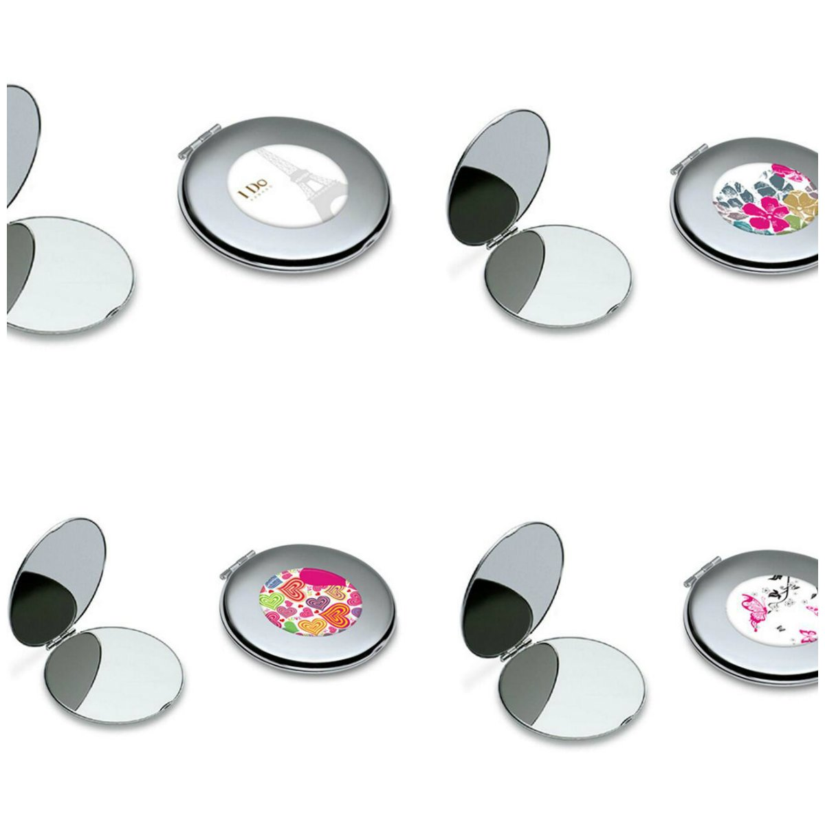 Yingealy Childrens Mirror Mini Butterfly Pattern Round Metal Small Glass Mirrors Circles for Crafts Decoration Cosmetic Accessory by Yingealy (Image #6)