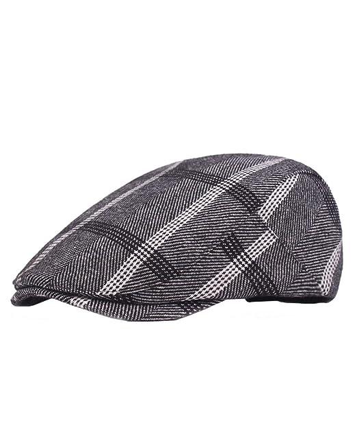 Boomly Vintage Casual Cappello Berretti Piatti Coppole Baschi Berretto da  uomo Gatsby Coppola Cappello Newsboy Hat e08d8808957c