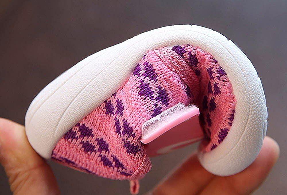 Zapatos Unisex para Bebé de Malla Zapatilla de Deporte Antideslizante del Zapato Casual Lindo Suela de Caucho Primeros Pasos para Bebé Niñas Niños