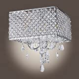 MuseumLight Modern Crystal Chandelier Flush Mount Light Lighting Fixture 4 lights CA2016-117/D-L4 Silver