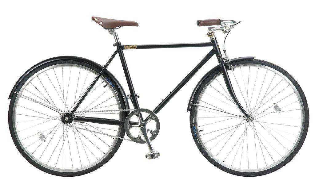 【 BURLINGTON BICYCLE 1S 700C@44280 】 バーリントン 1S 自転車 サイクル (ワイヤーロックサービス)(スタンド附属しません) B0753ZQ4JP BLACK540 BLACK540