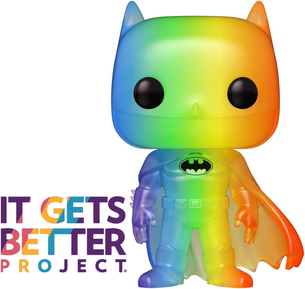 Funko- Pop Heroes 2020-Batman Pride 2020 Batman(RNBW) Figura Coleccionable, Multicolor (49844)