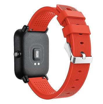 HappyTop Huami Xiaomi Amazfit Bip Smart Watch - Reloj de Pulsera Unisex de Silicona, Color