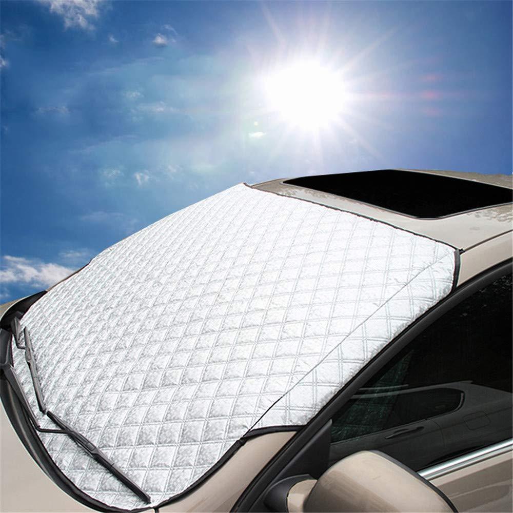 DYHQQ Auto-Windschutzscheibenabdeckung Snow - High Density-Abdeckung Fü r Suvs & Limousinen, Autofenster Frostschutz, Schnee- Und Eisschutz Sonnenschutz
