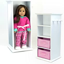 afd423b10f5a Sophia s Doll Storage Tower Swivels in White Wood for 18 Inch American Girl  Dolls   More