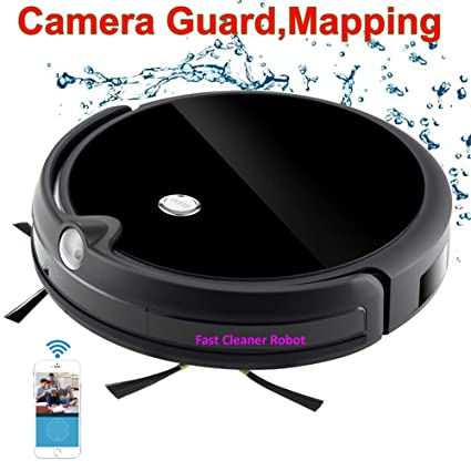 JAOMoy Colector de Polvo Cámara de vigilancia Videollamada Mapa Navegación Aspirador inalámbrico Robot con Control de