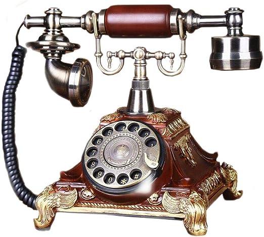 Moda Retro teléfono Creativo Tocadiscos sin Manos Dial Volver Tipo ...