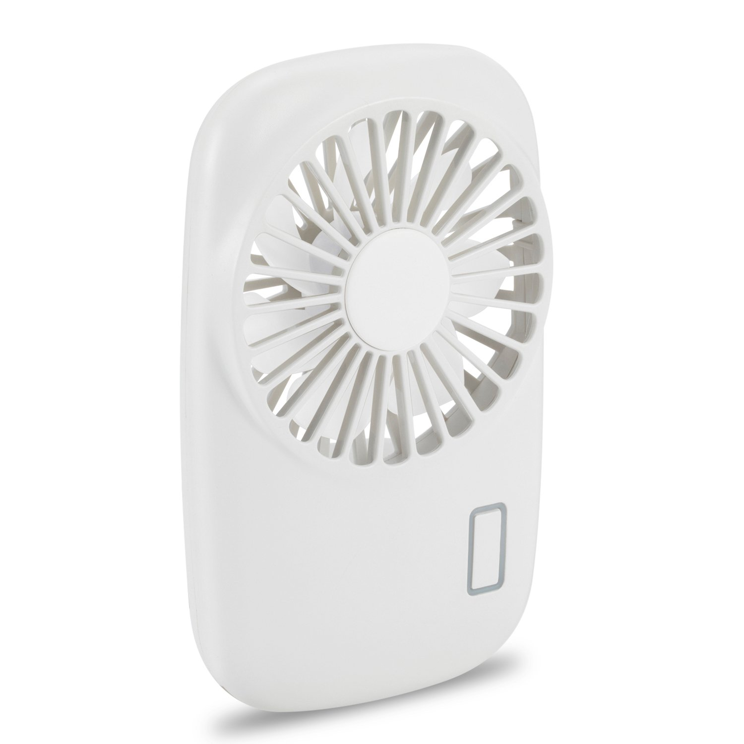 Aluan Handheld Fan Mini Fan Powerful Small Personal Portable Fan Speed Adjustable USB Rechargeable Cooling for Kids Girls Woman Home Office Travel, White