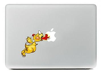 Top parte superior de vinilo Dinosaurio - Dinosaurio Adhesivo de vinilo para Apple MacBook Pro 13 Color para Macbook Skin para ordenador portátil: ...
