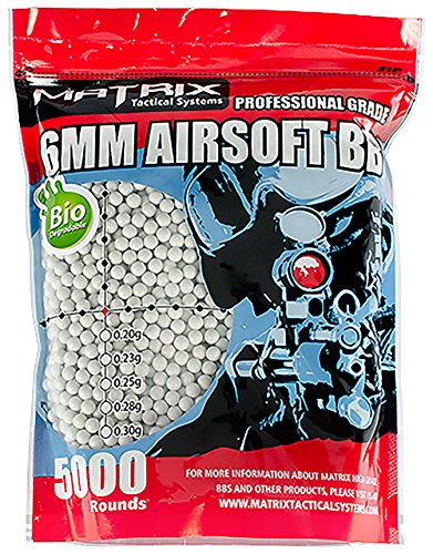 Evike Matrix Match Grade 6mm Airsoft BB - Biodegradable - White - 0.23g - 5000 rds - (31299) (Cool Air Soft Snipers Rifles compare prices)