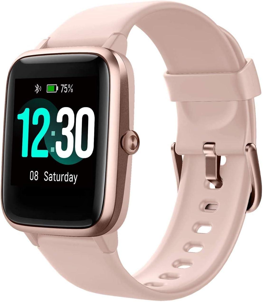 Reloj Inteligente Mujer Hombre, Smartwatch con Pulsómetro, Pulsera Actividad Inteligente con Cronómetros Podómetro Caloría,Monitor de Sueño, Impermeable IP68 Mujer Reloj para Android iPhone