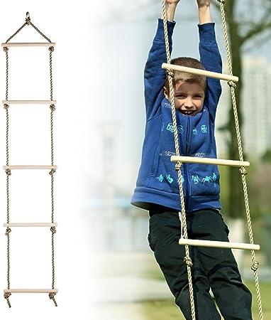 Per Cuerdas Escalera Colgantes de Madera Columpios Infantiles ...