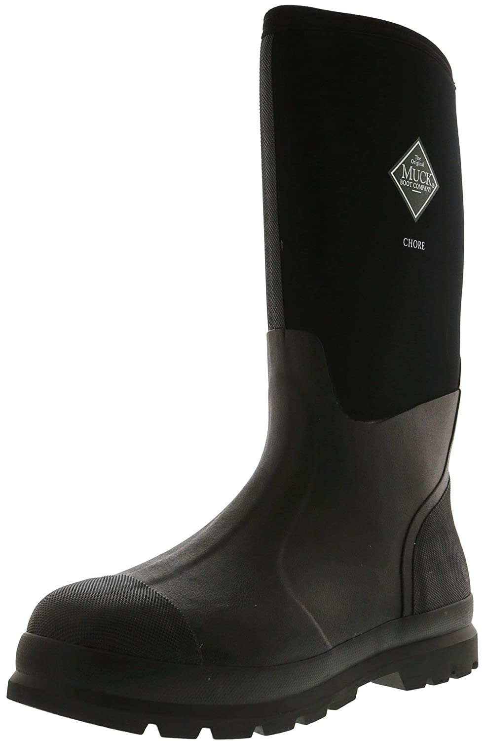 2792efe15a4 Muck Boots Mens Chore Hi Wateproof Rubber Work Boot, Black, 11,  CHH-000A-BL-110