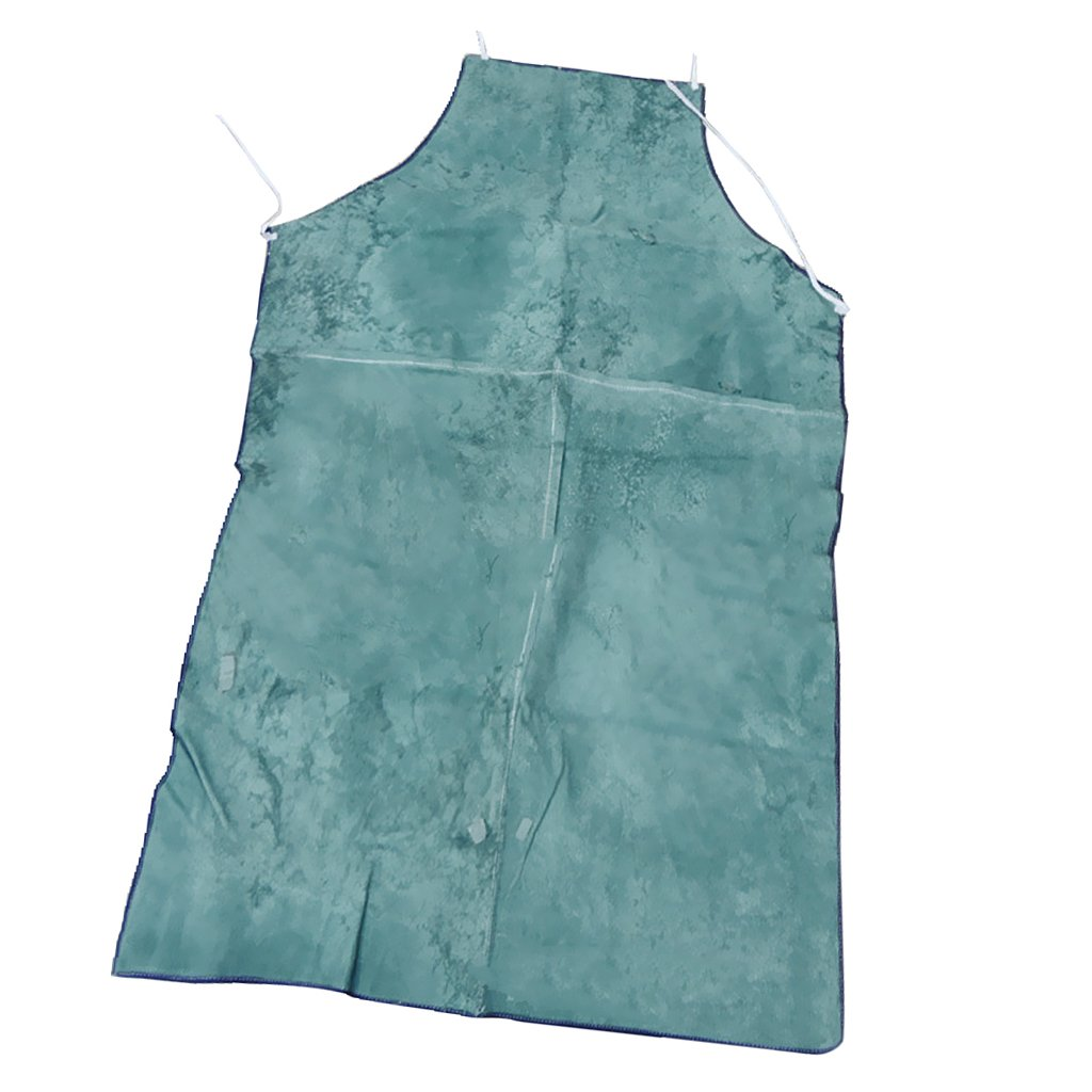 Fenteer Blue Welder Apron Welding Protective Gear Clothing Heat Insulation Bib