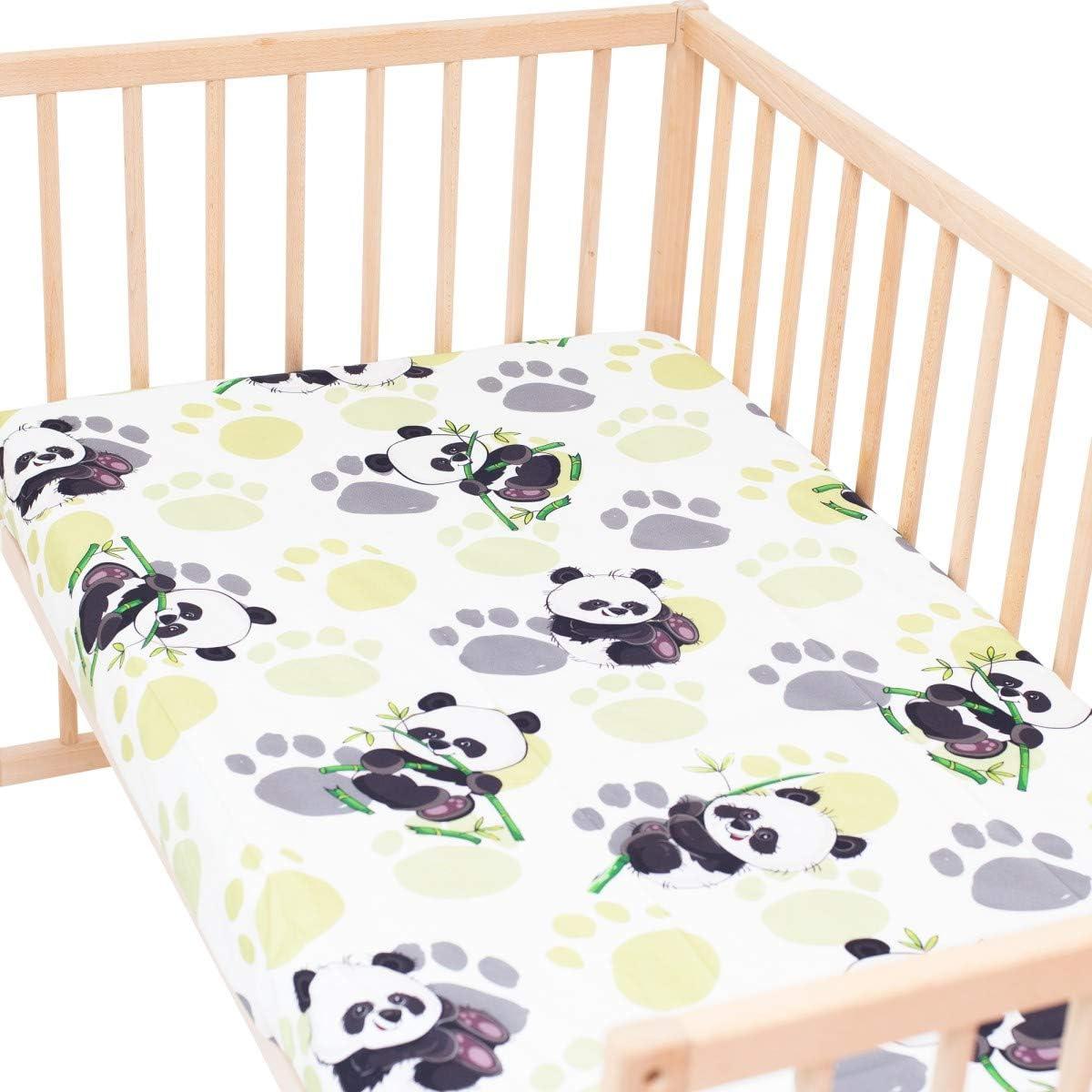 Linge de lit pour b/éb/é Housse de couette 100x140 cm et Taie doreiller - 100/% Coton Etoiles SoulBedroom Baby Make A Wish