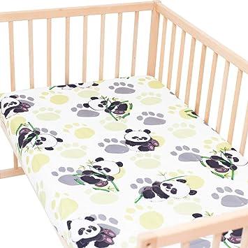 Bambú panda - PatiChou 100% Algodón Sábana bajera ajustable ...