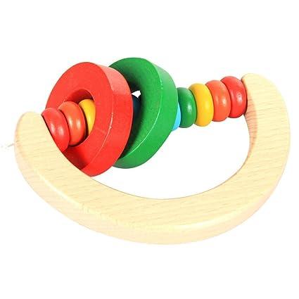 Vi.yo - Campana de madera para bebés y niños con mancuernas, juguete educativo