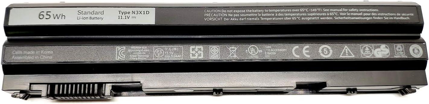 EndlessBattery New N3X1D Replacement Laptop Battery Compatible with Dell Latitude E6540 E6440 E5530 E5430 E6520 E6420 Precision M2800Series G750(11.1V 65Wh 6Cell)