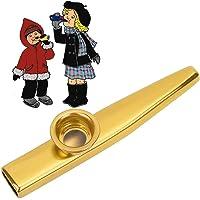Metalen Kazoo-fluit Interessant feestje Speelgoed Kazoo Muziekinstrument voor kinderen Een goede metgezel voor ukelele…